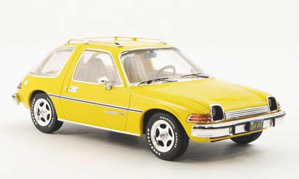 AMC Pacer 1/43 Premium X X jaune 1975 miniature