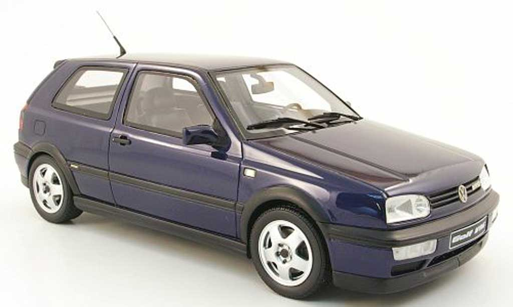 Volkswagen Golf 3 VR6 1/18 Ottomobile bleu miniature