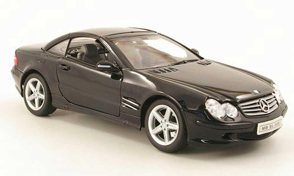 mercedes sl 500 miniature r230 hardtop noire welly 1 18 voiture. Black Bedroom Furniture Sets. Home Design Ideas