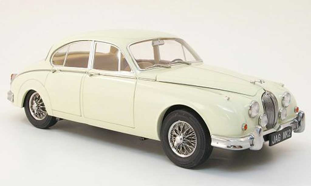 Jaguar MK 2 1/18 Model Icons .4 blanche lhd 1960 miniature