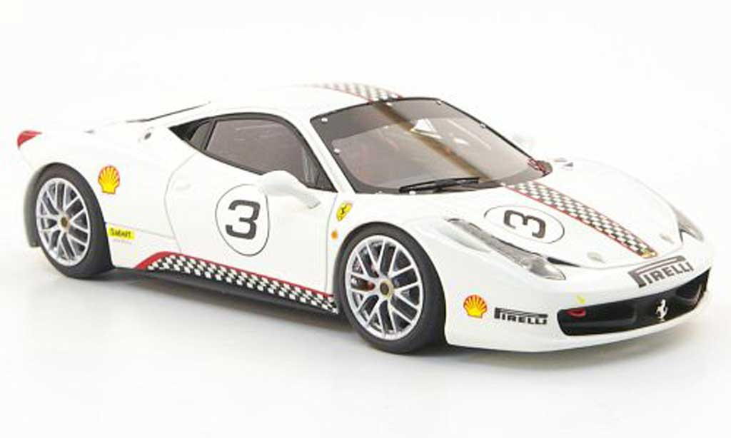 Ferrari 458 Challenge 1/43 Look Smart No.3 white diecast model cars