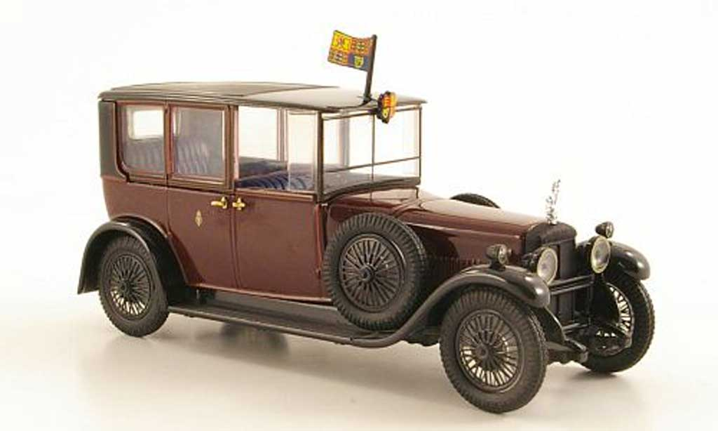 Daimler Double Six 1/43 Oxford 30 Brougham rouge/noire King George V (Sandringham) RHD 1929 miniature