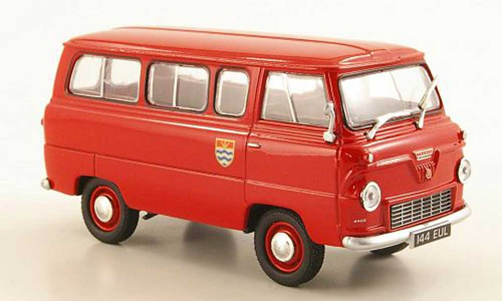 Ford 400E 1/43 Oxford Thames Bus London Fire Brigade RHD miniature