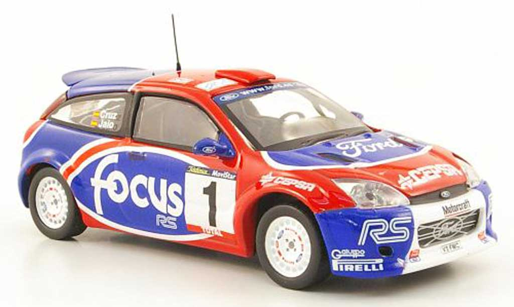 Ford Focus RS WRC 1/43 Hachette No1 Rally de Cangas del Narcea 2002 miniature