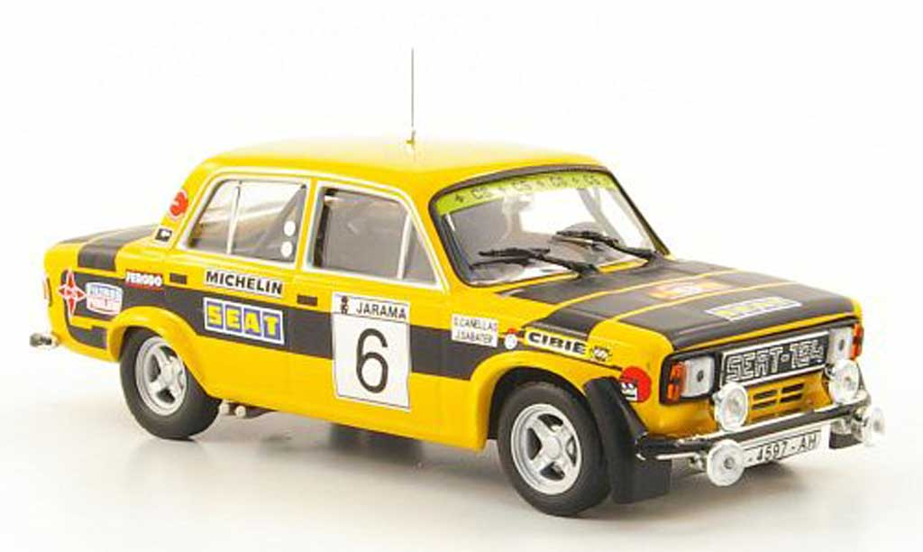 Seat 124 1/43 Hachette 1800 No.6 Rally RACE 1977 diecast model cars