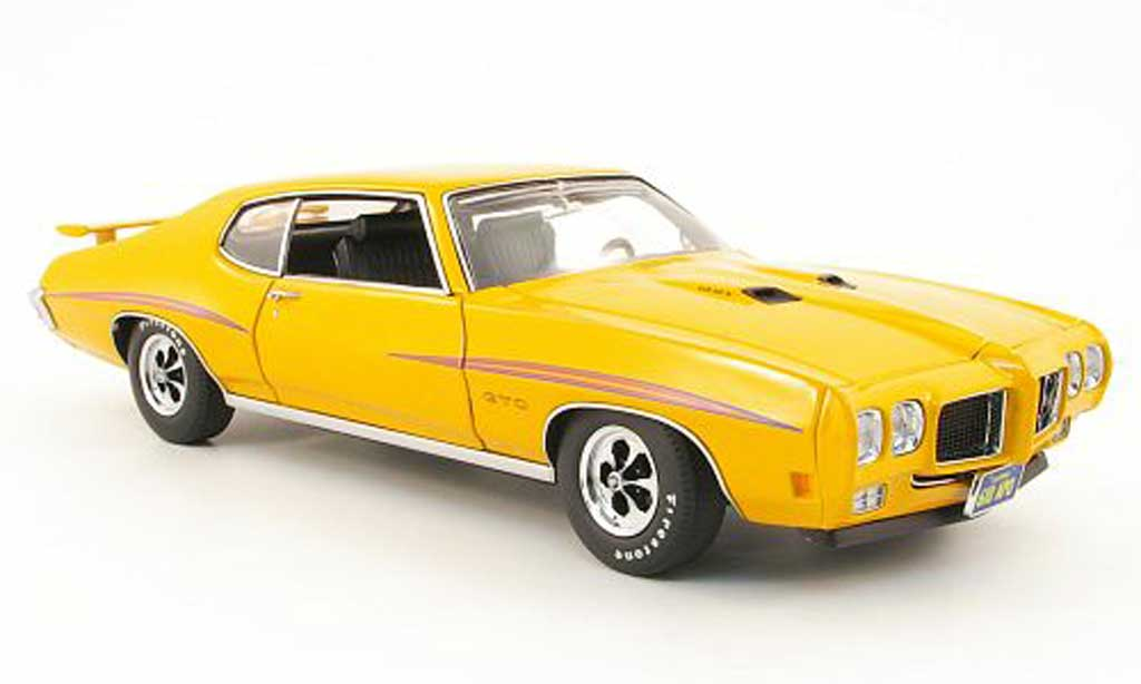 Pontiac GTO 1/18 GMP double lane orange miniature