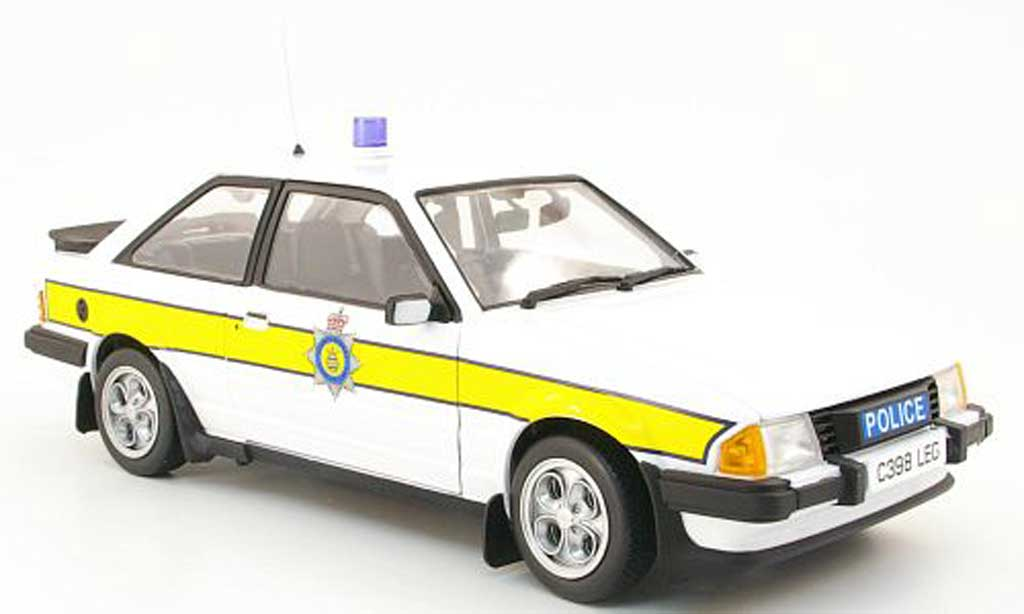 Ford Escort MK3 1/18 Model Icons mkiii xr3i cambridgeshire constabulary 1985 miniature