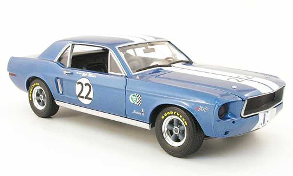 Ford Mustang 1968 1/18 Greenlight t/a no.22 bill maier miniature