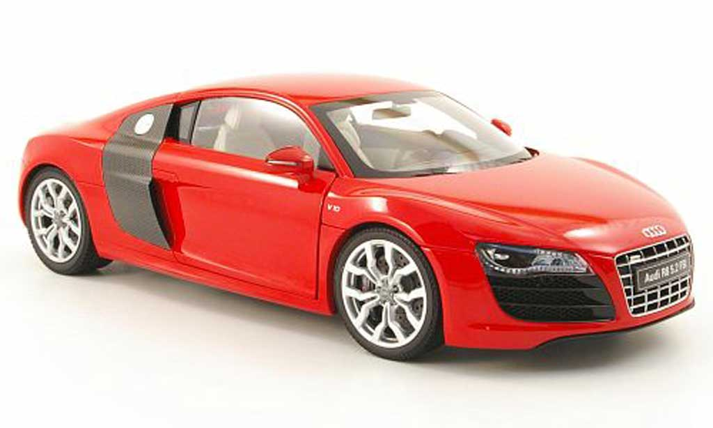 audi r8 5 2 fsi v10 rot 2009 kyosho modellauto 1 18 kaufen verkauf modellauto online. Black Bedroom Furniture Sets. Home Design Ideas
