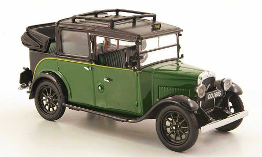 Austin Low Loader 1/43 Oxford Taxi verte/noire offen miniature