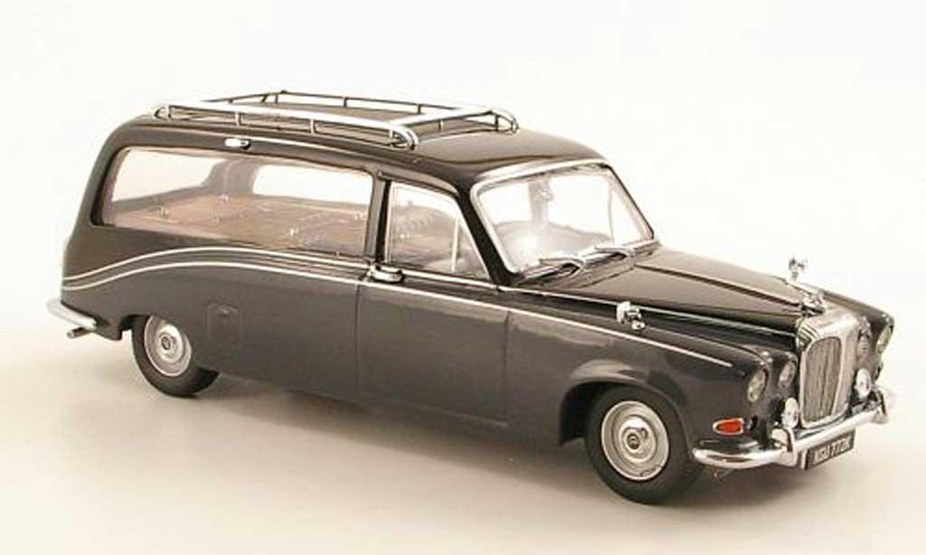Daimler DS 420 1/43 Oxford Hearse grise/noire Leichenwagen RHD miniature
