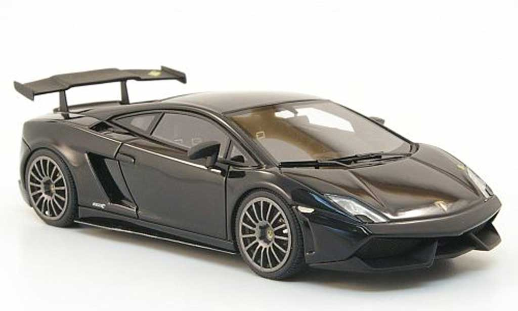 Lamborghini Gallardo LP570-4 1/43 Look Smart Blancpain Edition noire/mattnoire 2010 miniature