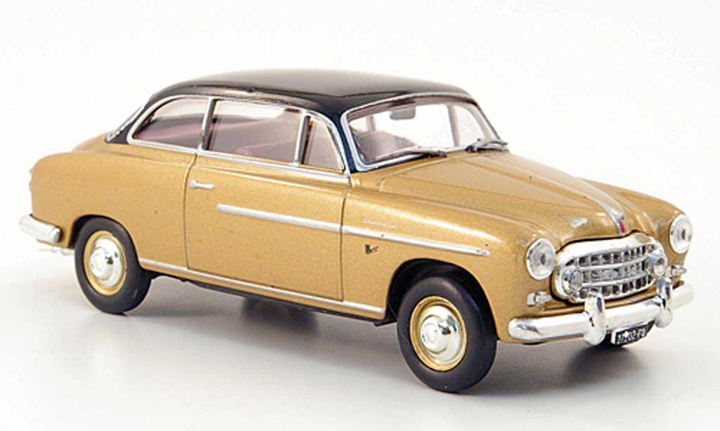 Fiat 1900 1/43 Hachette Granluce gold/noire 1952 miniature