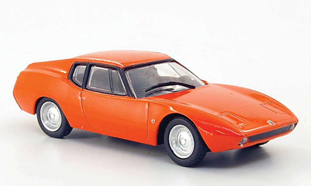 Abarth Scorpione 1/43 Hachette SS orange 1968 miniature