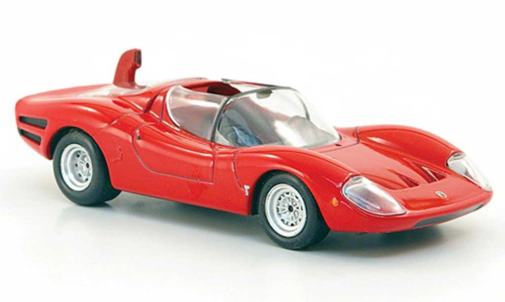 Abarth 1600 OT 1/43 Hachette rouge 1966 miniature