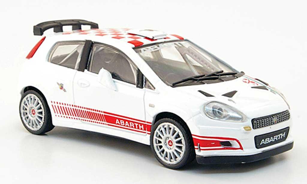 Fiat Grande Punto S2000 1/43 Hachette blanche/rouge miniature