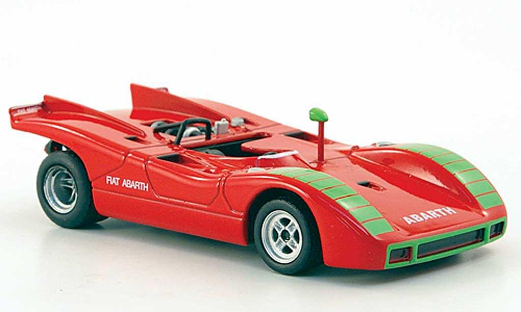 Fiat 2000 1/43 Hachette Abarth Sport Spider (SE019) red 1970 diecast model cars
