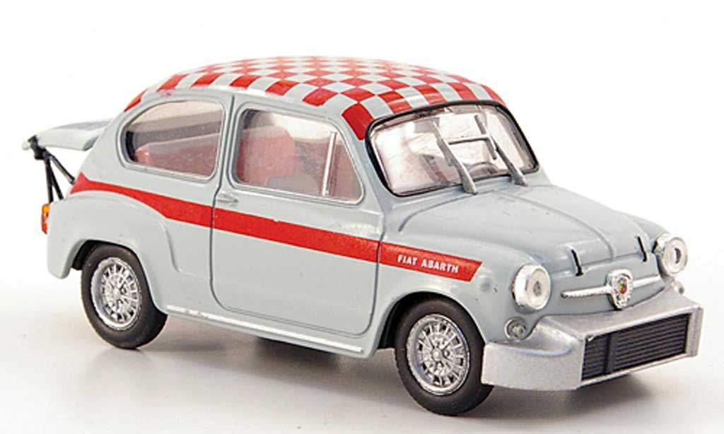 Fiat Abarth 1000 1/43 Hachette Berlina/Corsa grey/red-kariert 1967 diecast model cars