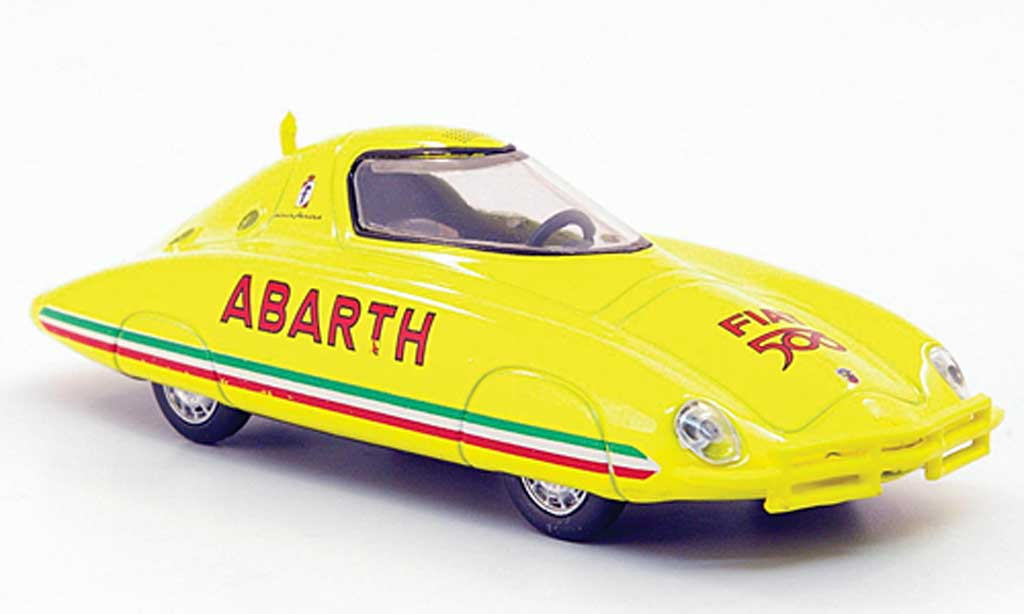 Fiat 500 Abarth 1/43 Hachette Rekordwagen Pinin Farina jaune 1958 miniature