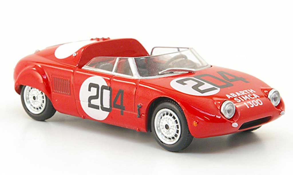Abarth 1300 Simca Spider 1/43 Hachette Sport No.204 rouge 1962 miniature