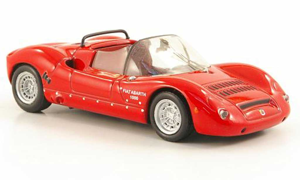 Fiat Abarth 1000 1/43 Hachette SP rouge 1966 miniature