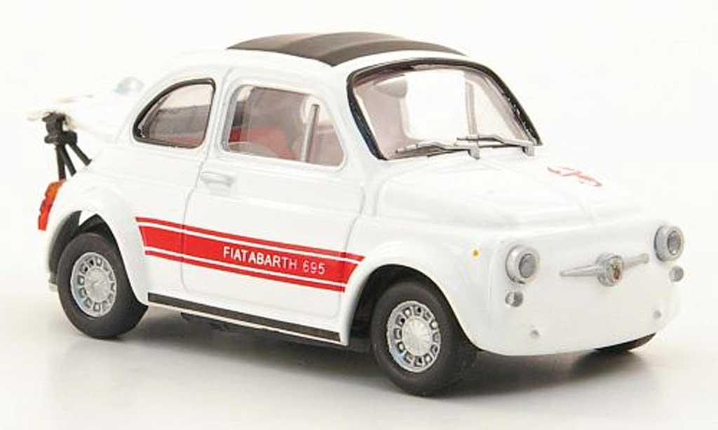 Fiat 695 1/43 Hachette Abarth SS Rennausstattung blanche/rouge 1969 miniature