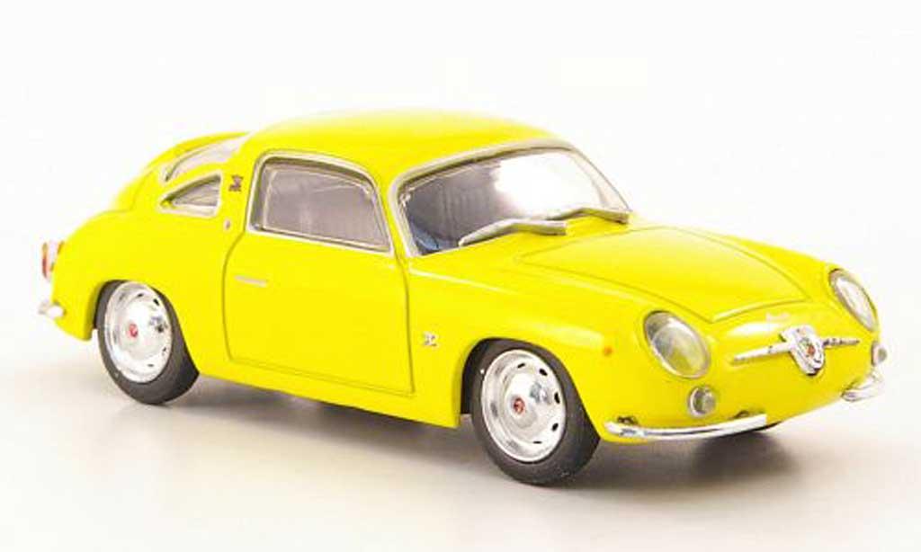Fiat 750 1/43 Hachette Abarth Record Monza jaune 1958 miniature