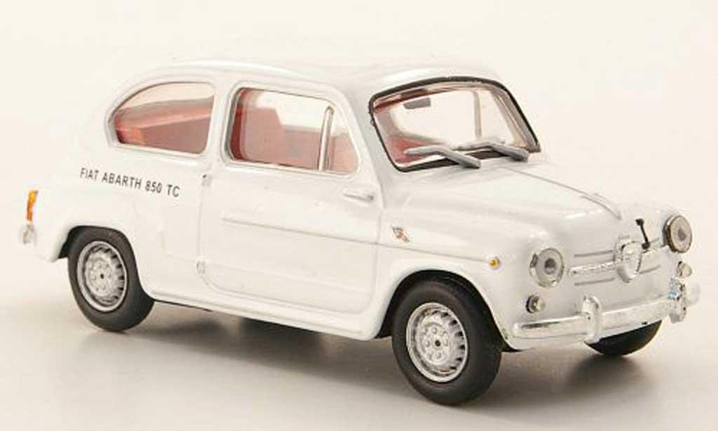 Fiat 850 1/43 Hachette Abarth TC blanche miniature
