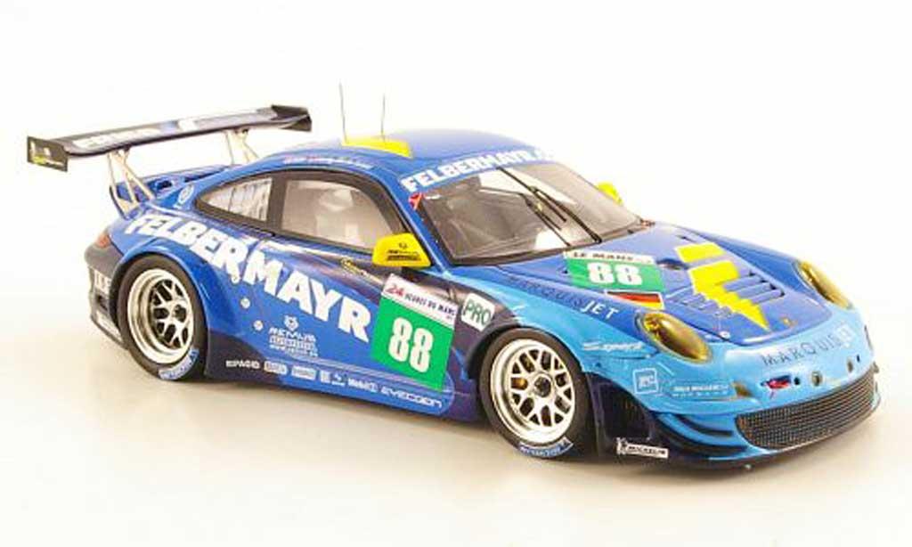 Porsche 997 GT3 RSR 1/43 Spark 2011 No.88 Team Felbermayr-Prougeon 24h Le Mans miniature
