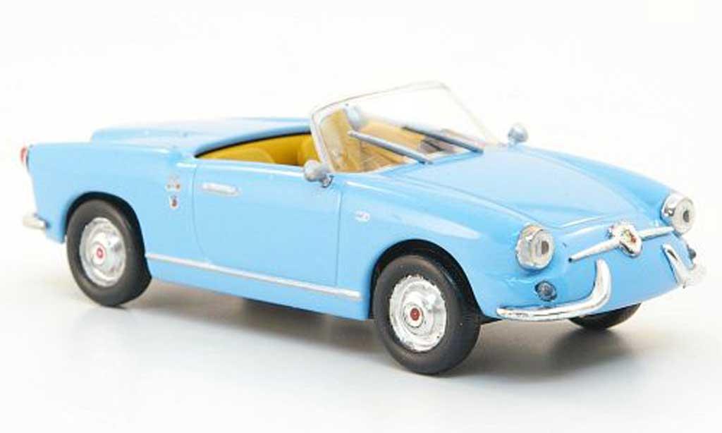 Fiat 750 1/43 Hachette Abarth Spider Allemano bleu 1958 miniature