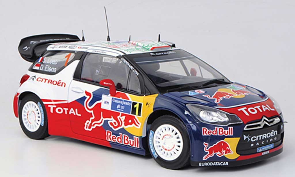 DS Automobiles DS3 WRC 2011 1/18 Norev No.1 Red Bull - Total S.Loeb / D.Elena  Rally Mexiko 2011 miniature