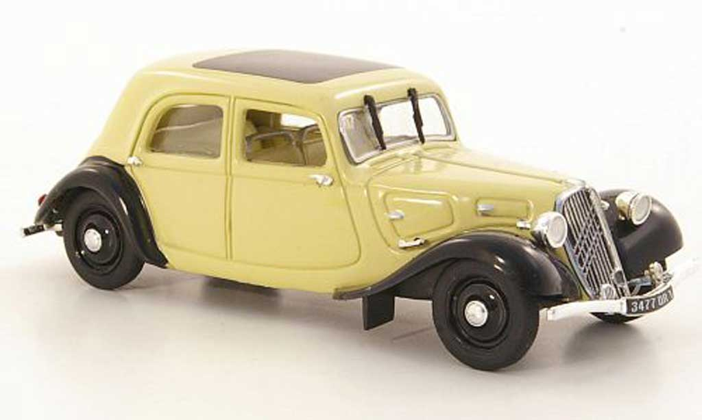 Citroen Traction 7 1/43 Norev C beige/noire 1934 miniature
