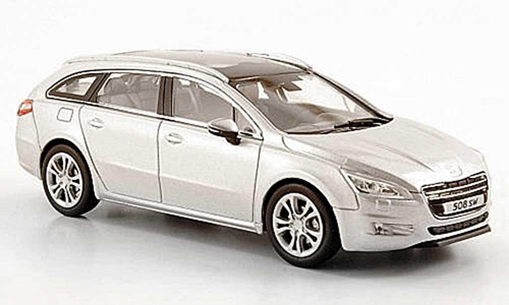 Peugeot 508 SW 1/43 Norev grise 2010 miniature