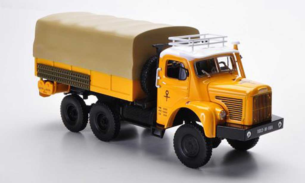 Berliet GBC 1/43 Norev 8 6x6 Gazelle yellow PP-LKW 1959 diecast model cars