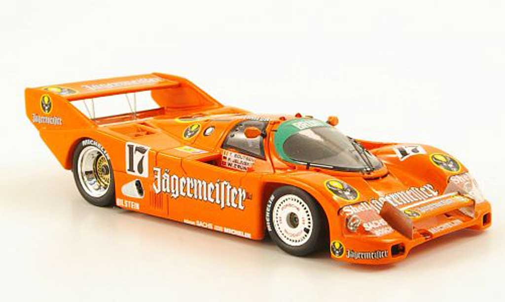 Porsche 962 1986 1/43 Spark No.17 Jagermeister T.Boutsen/F.Jelinski SPA miniature