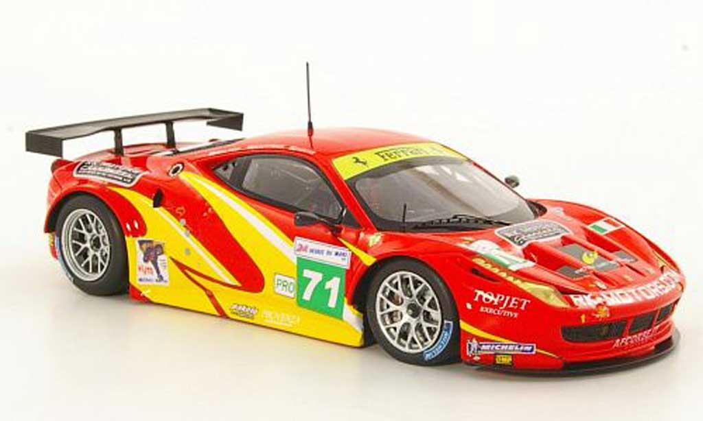 Ferrari 458 Italia GT2 1/43 Fujimi No.71 Team AF Corse 24h Le Mans 2011 miniature