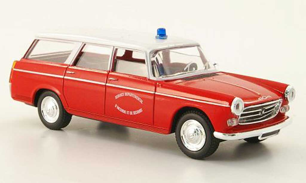 Miniature Peugeot 404 Break pompiers France  1964 Solido. Peugeot 404 Break pompiers France  1964 Pompier miniature 1/43