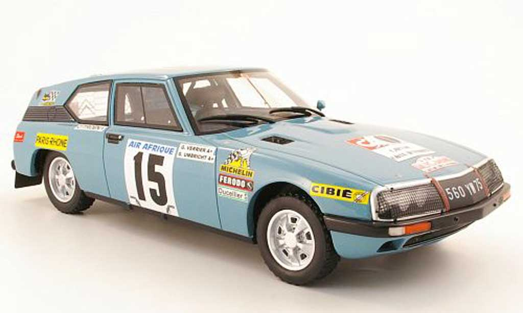 Citroen SM 1/18 Ottomobile Prougeo No15 GVerrier / GUmbricht Rally du Bandama 1968 miniature