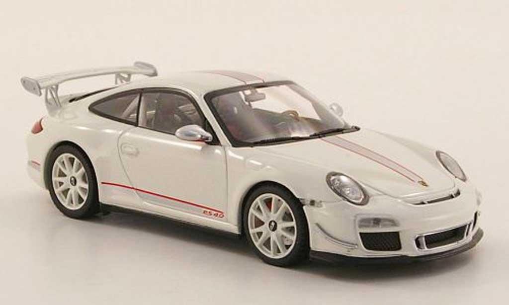 Porsche 997 GT3 RS 1/43 Minichamps 2011 4.0 white diecast model cars
