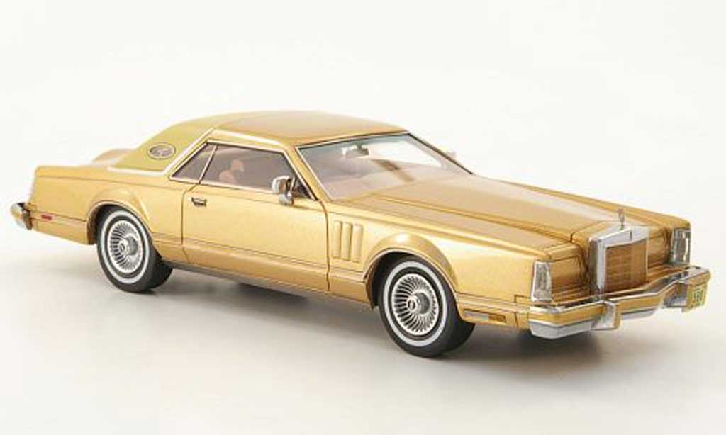 Lincoln Continental 1978 1/43 Neo Mark V Coupe gold/beige miniature