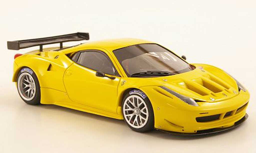 Ferrari 458 Italia GT2 1/43 Look Smart jaune Plain Body Version miniature