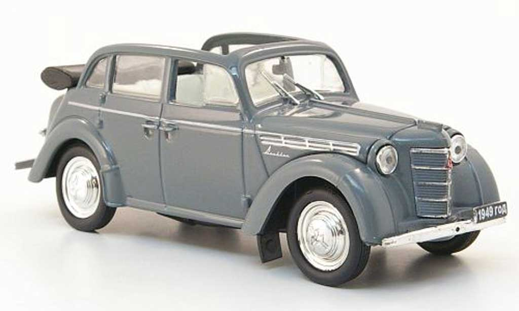 Moskwitsch 400-420 1/43 Nash Avtoprom A Cabriolimousine grise miniature
