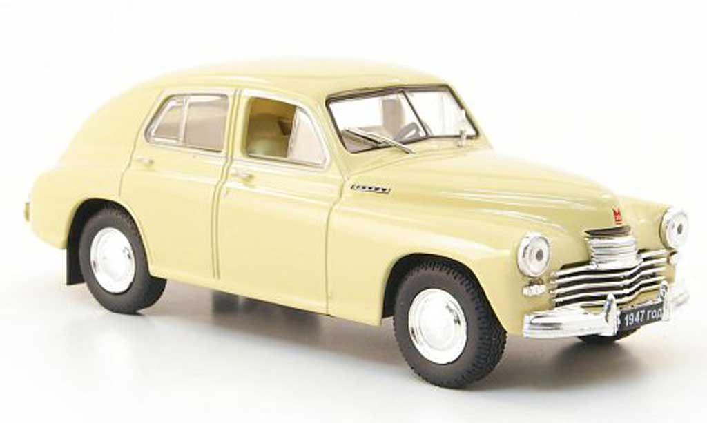 Gaz 20 1/43 Nash Avtoprom Pobeda beige miniature