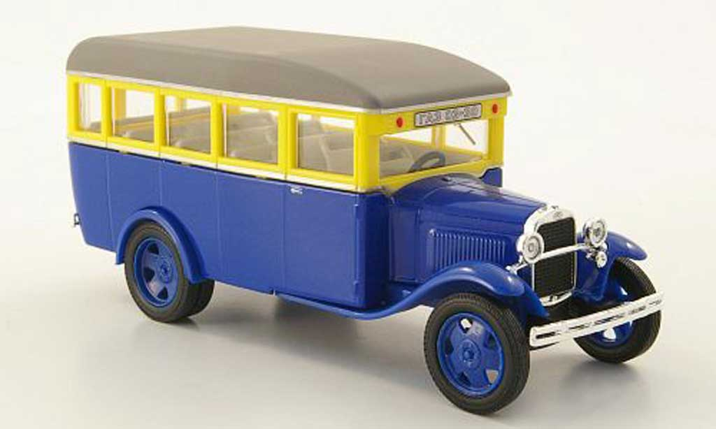 Gaz 03-30 1/43 Nash Avtoprom bleu/jaune/grise miniature