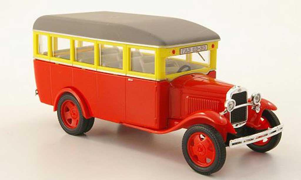 Gaz 03-30 1/43 Nash Avtoprom rouge/jaune/grise miniature