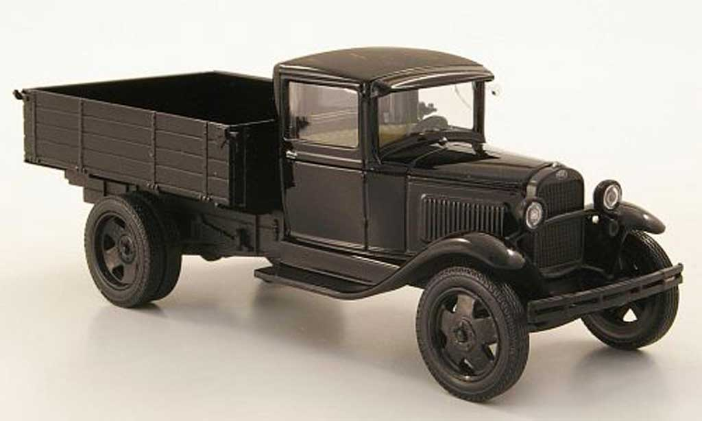 Gaz AA 1/43 Nash Avtoprom Pritsche noire miniature