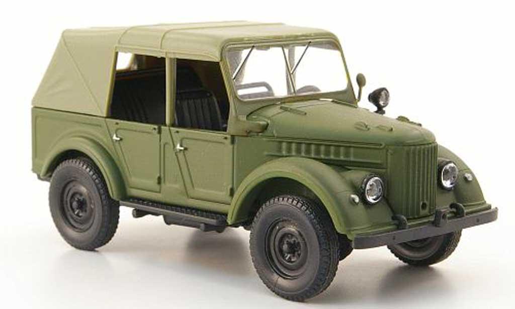 Gaz 69A 1/43 Nash Avtoprom oliv geschlossen miniature