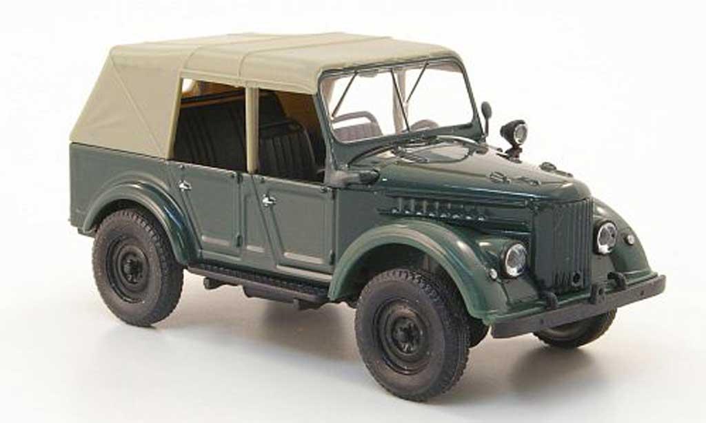Gaz 69A 1/43 Nash Avtoprom grun geschlossen miniature