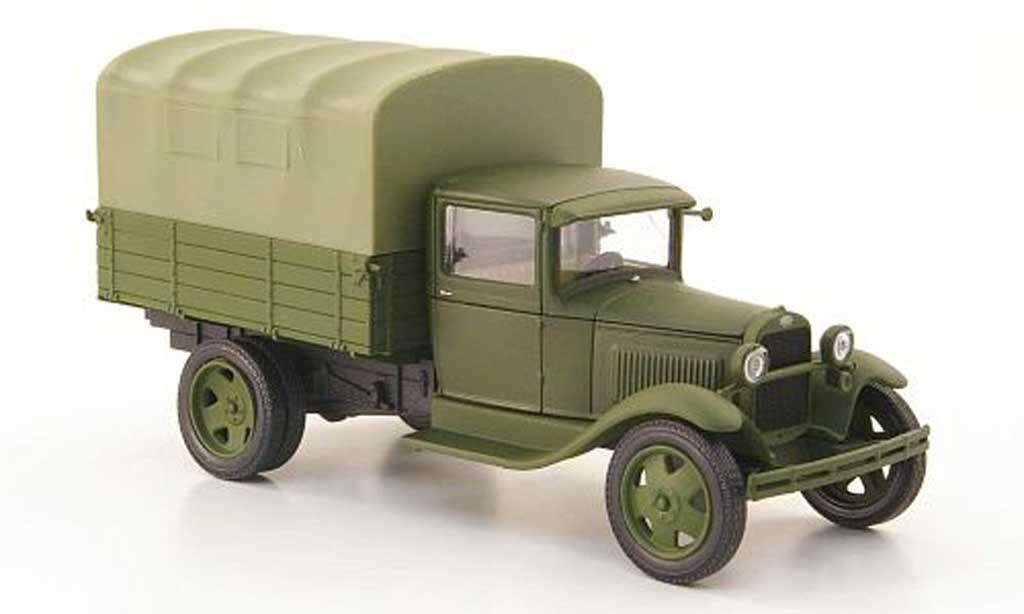 Gaz AA 1/43 Nash Avtoprom Pritsche oliv avec oliver Plane miniature