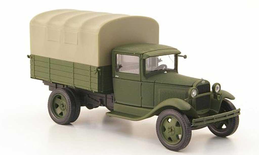 Gaz AA 1/43 Nash Avtoprom Pritsche oliv avec beiger Plane miniature